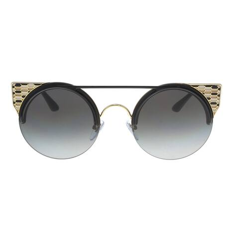 Bulgari BV6088 20188G Black Gold Cat Eye Sunglasses - No Size