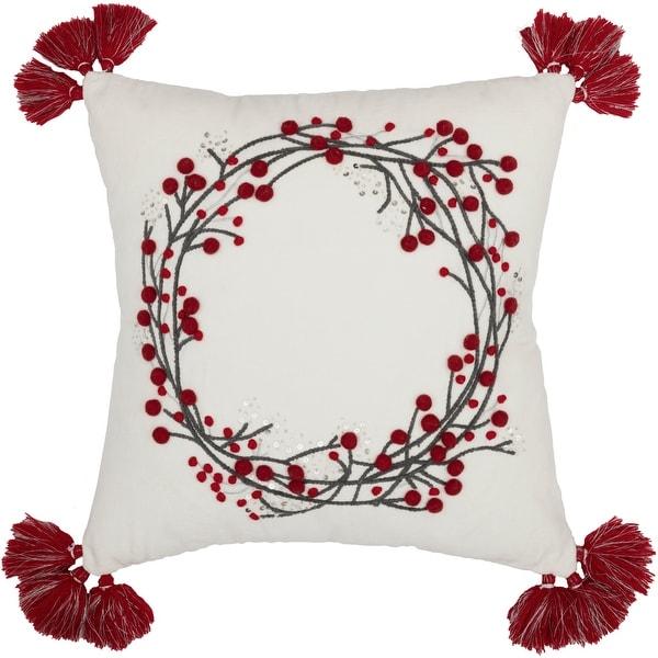 Shop Wreath Pom Pom Pillow 18x18 - 28722538