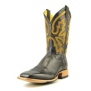 Rod Patrick Buffalo Roma Men C Round Toe Leather Black Western Boot