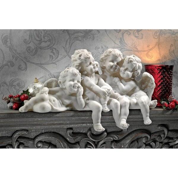 Design Toscano Cherub Conclave Shelf Sitting Angel Sculpture