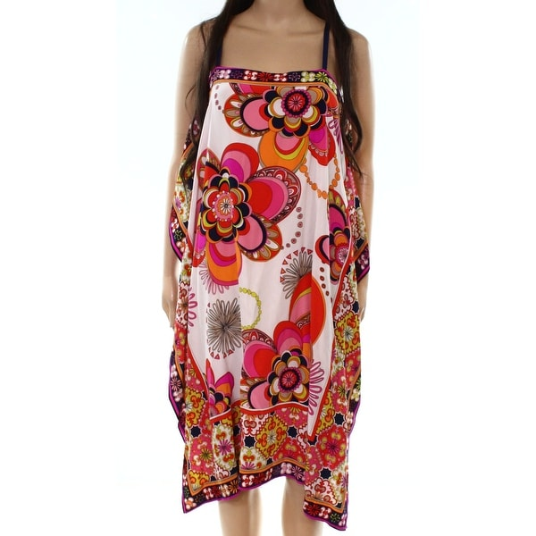 84020a01c99 Shop Trina Turk Womens Medium Scarf-Print Shift Dress - On Sale ...