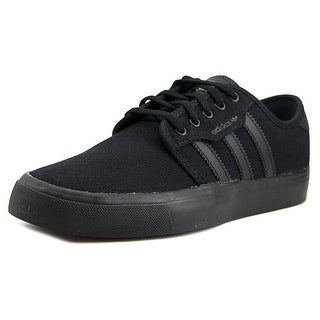 Adidas SEELEY Youth Round Toe Canvas Black Sneakers