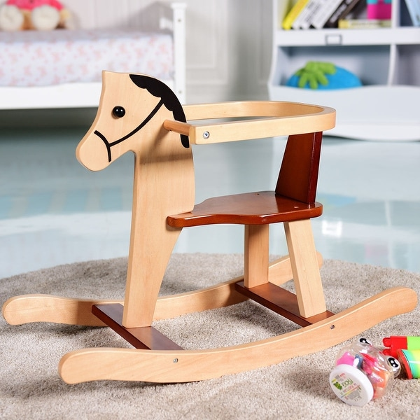 Baby Gear Initiative New Wooden Baby Rocking Animal Horse Ride On Rocker Chair Kid Toy X Mas Gift Soft And Light