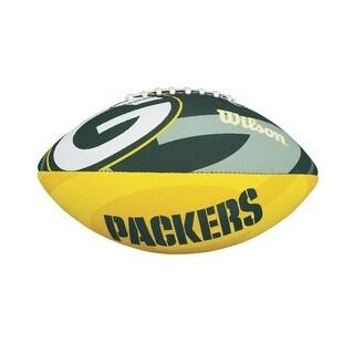Wilson NFL Team Logo Junior Size Football (Green Bay Packers) - Green