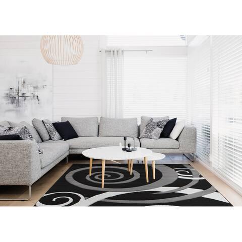 Orelsi Collection Swirl Area Rug