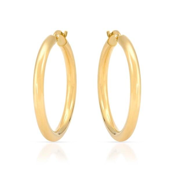 Mcs Jewelry Inc 14 KARAT YELLOW GOLD CLASSIC ROUND HOOP EARRINGS (34MM)