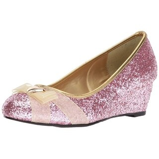 Ellie Shoes Womens PRINCESS Fabric Round Toe Wedge Pumps