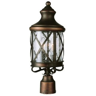 Trans Globe Lighting 5123 Three Light Up Lighting Outdoor Post Light from the Outdoor Collection - Gold