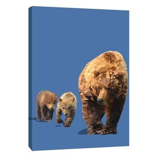 "PTM Images 9-109116  PTM Canvas Collection 10"" x 8"" - ""Fractal Bears"" Giclee Bears Art Print on Canvas"