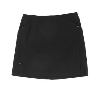 Tribal NEW Deep Black Women's Size 6P Petite Stretch Riveted Skorts