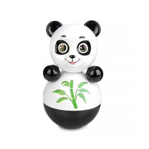 """Panda Roly Poly 8"""" Russian Vintage Nevalyashka Tilting Toy Wobble Toy"""