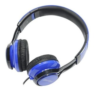 Hs3500blu Noise Isolating Studio Headphones With Microphone And Digital Stereo, Blue