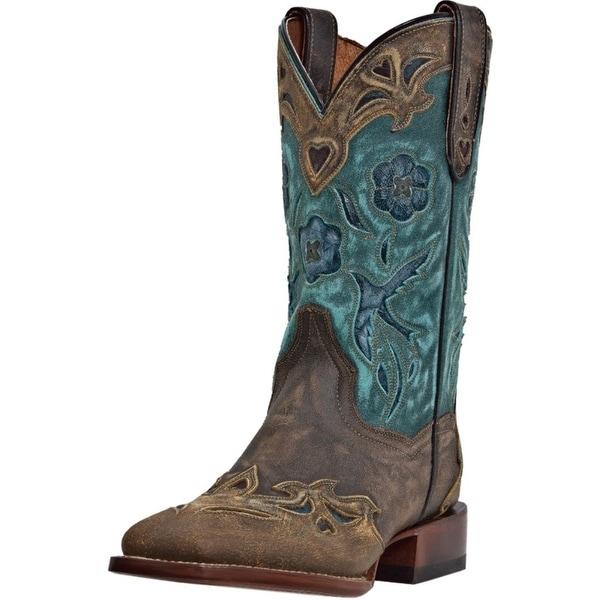 Dan Post Western Boots Womens Bluebird Wingtip Copper Teal