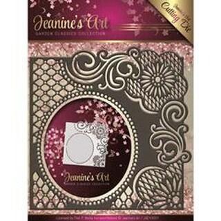 Lace Frame; Side Oval - Find It Trading Jeanine's Art Garden Classics Die