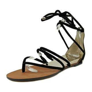 Vince Camuto Adalson Women Open Toe Suede Black Sandals