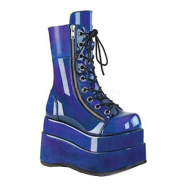 b85cfc74933 Shop Demonia Women's Bear 265 Mid-Calf Platform Boot Blue/Purple Patent -  Free Shipping Today - Overstock - 26059777