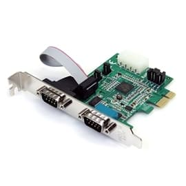 StarTech IO Card PEX2S952 2Port Native PCI Express RS232 Serial Adapter with 16950 UART Retail