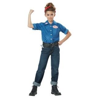 Girls Rosie the Riveter Halloween Costume