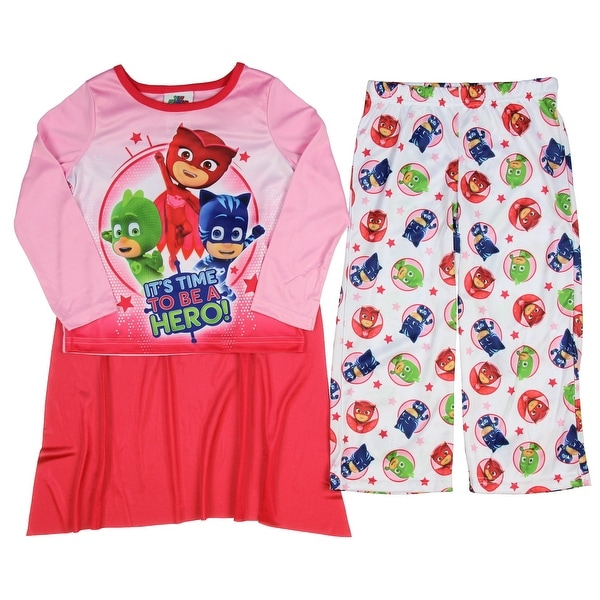 Shop AME PJ Masks Girls 2-Piece Pajama Set with Cape ...