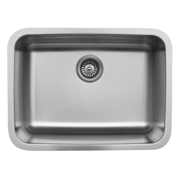 Karran Undermount Stainless Steel 24 in. Single Bowl Kitchen Sink
