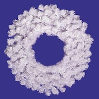"""24"""" Crystal White Wreath 110 Tips"""