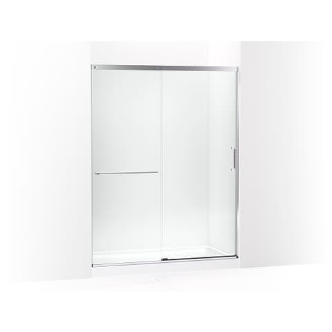"""Kohler K-707615-8L Elate Tall Sliding shower door, 75-1/2"""" H x 56-1/4 - Bright Silver"""