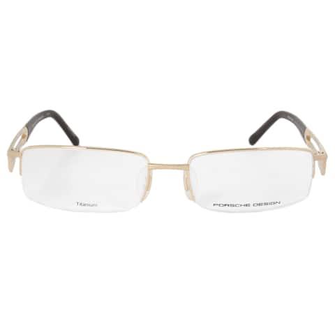 Porsche Design P8703 B Rectangular Matte Gold Eyeglass Frames