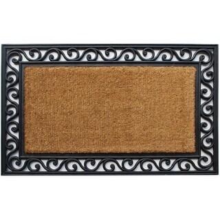Home & More 10006 Coir & Rubber Rectangle Doormat