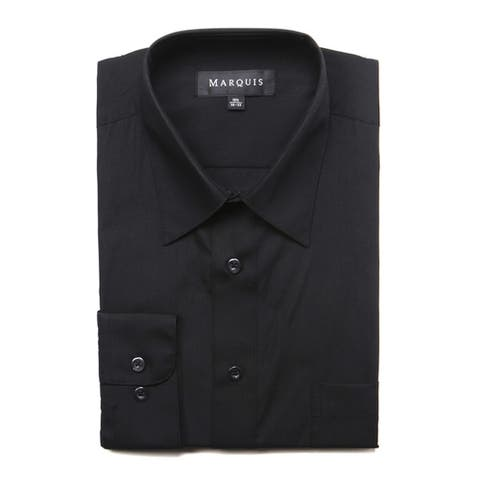 Marquis Men's Long Sleeve Slim Fit Dress Shirt