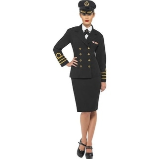 Navy Officer Female Pilot Adult Costume Large,Medium,Small