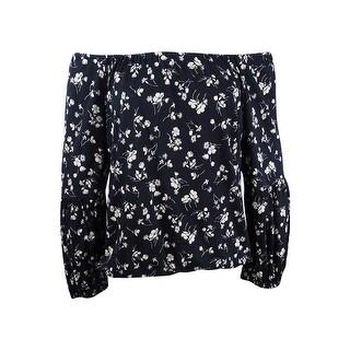 Lauren Ralph Lauren Women's Floral Print Blouse - Black