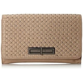 Elliott Lucca Womens Serra Leather Studded Clutch Handbag - Small