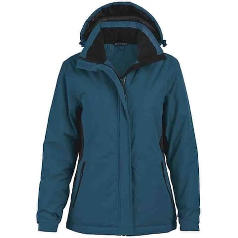 River's End Classic Color Block Parka Womens Winter Heavyweight -