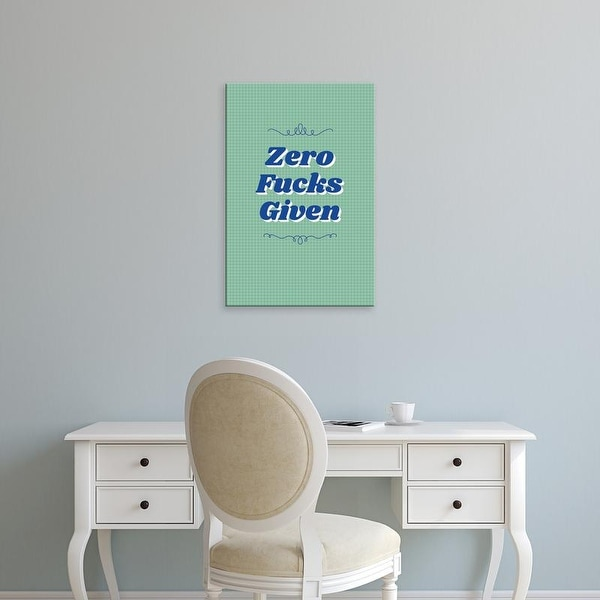 Easy Art Prints 'Zero' Premium Canvas Art