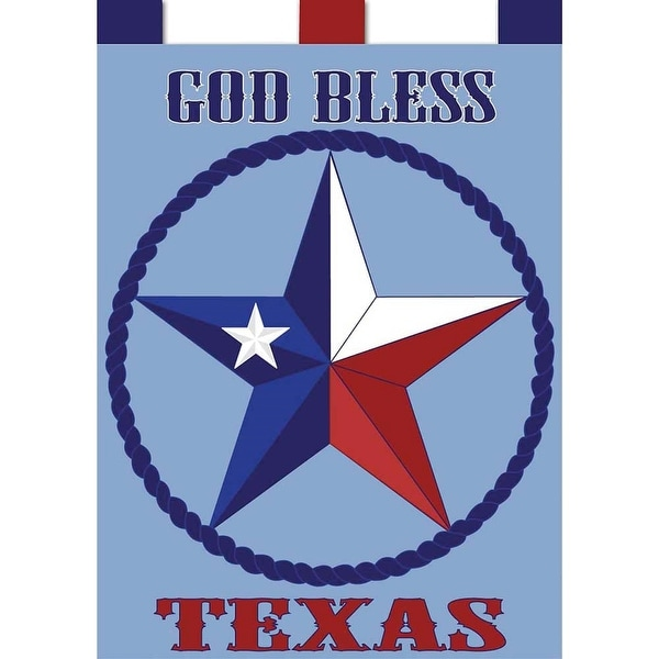 "Blue and Red God Bless Texas Garden Flag 13"" x 18"" - N/A"