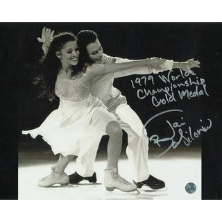"Tai Babilonia Figure Skating Autographed 8x10 Inscribed ""1979 World Championship Gold Medal"""