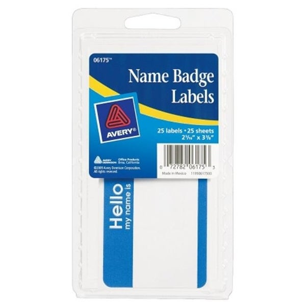 shop avery 06175 4 in x 6 in name badge labels 25 count pack of 6