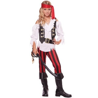 California Costumes Posh Pirate Child Costume - Black/White/Red