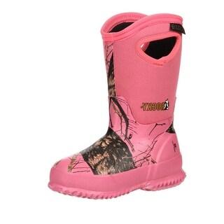 Rocky Outdoor Boots Girls Waterproof Rubber Mossy Oak Pink RKYS067