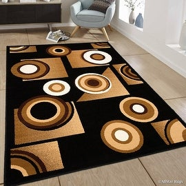"Allstar Area Rug. Contemporary. Abstract. Traditional. Geometric. Formal. Shapes. Circles (3' 9"" x 5' 1"")"