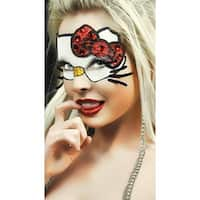 Hoty Kitty Mask, Cartoon Kitty Eye Mask - White - One Size Fits most