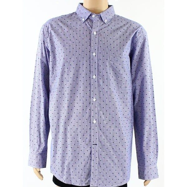 86de78c897 Shop Club Room NEW Blue Mens Size XL Micro Check Button Down Collar Shirt - Free  Shipping On Orders Over $45 - Overstock - 20006547