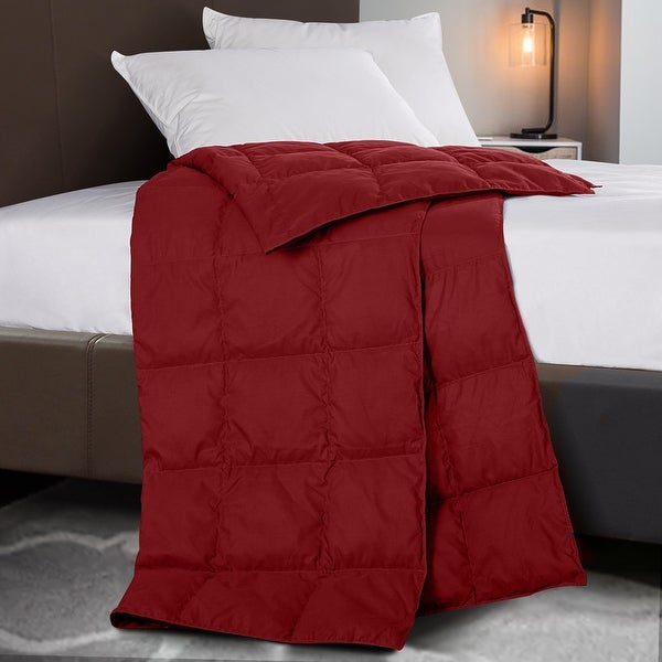 Indoor/Outdoor Sports Blanket with Natural Down and Feather Fill. Opens flyout.