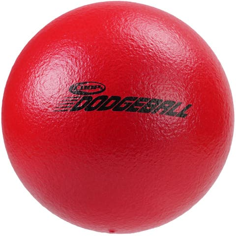 "6"" Solid Red Textured Sting-Free Outdoor Yard Sport Dodgeball"