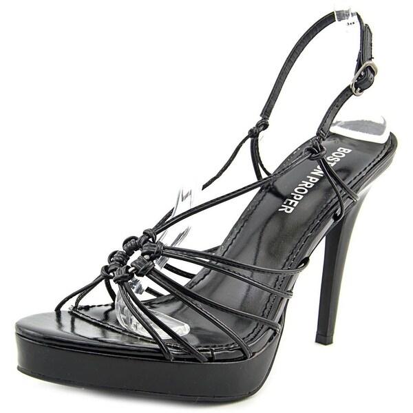 Boston Proper Flirt Open Toe Synthetic Sandals