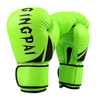 Boxing Gloves PU Free Combat Adult Gloves green