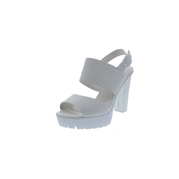 Steve Madden Womens Allieee Platform Heels Strappy Open Toe - 10 medium (b,m)