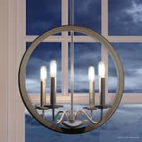 """Luxury Modern Farmhouse Chandelier, 30""""H x 15.75""""W, with English Country Style, Brushed Nickel Finish by Urban Ambiance"""