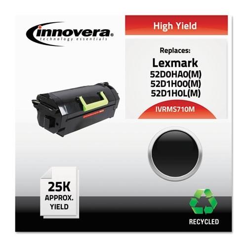 """Innovera Remanufactured 52D0HA0 (MS710M) MICR Toner, Black Remanufactured 52D0HA0 (MS710M) High-Yield MICR Toner, Black"""