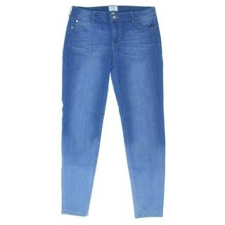 Celebrity Pink Womens Juniors Whisker Wash Five Pocket Skinny Jeans